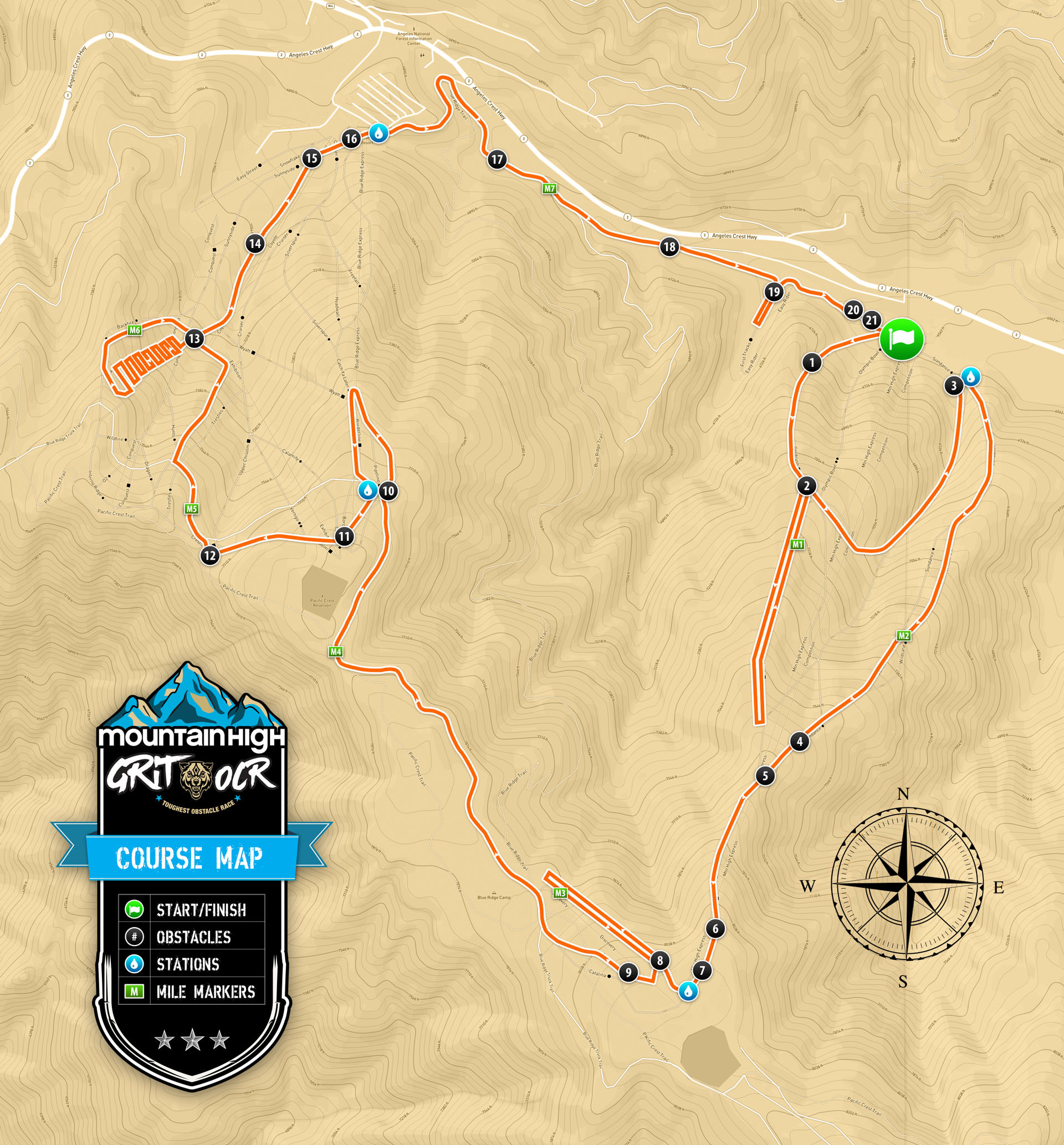 Grit OCR Mt. High Course Map