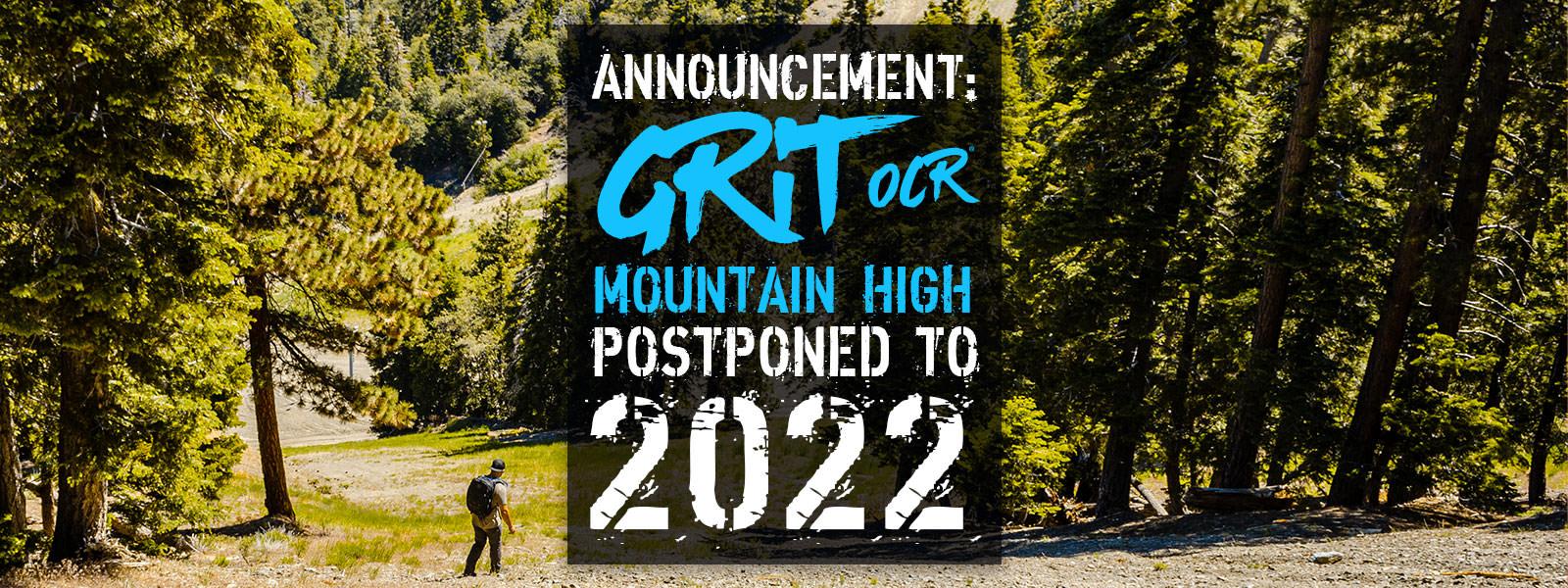 Grit OCR: Mt. High Postponed To 2022